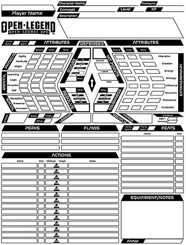 Open Legend Character Sheet Scifi sm