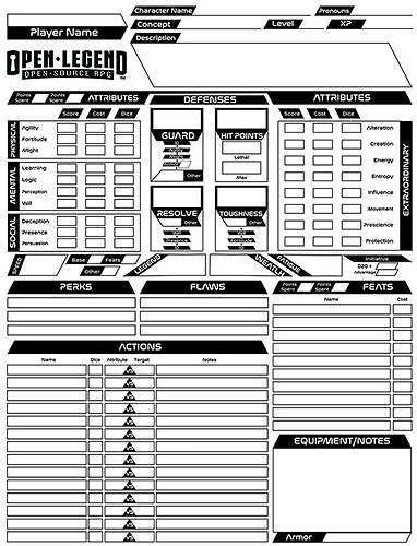 Open Legend Character Sheet Scifi Straight sm